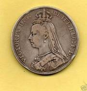 1 OZ Silver coin Victoria Crown 1889 XF  rare