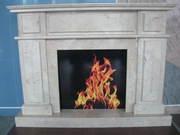 Crema Nova Stone Fireplace