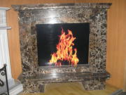 Emperador Gold Stone Fireplace